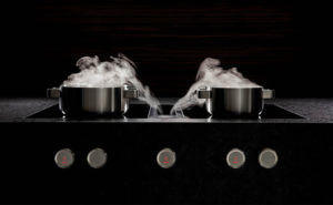 principe d'aspirations avec flux d'air plus rapide que la montée de la vapeur